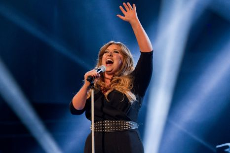 Contestant Leanne Mitchell performs on the live final of The Voice