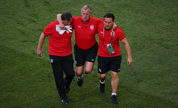 England keeper coach Ray Clemence injured during Euro 2012 warm-up