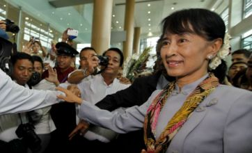 Nobel Peace Prize for Aung San Suu Kyi on first visit to Europe in 24 years