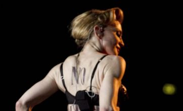 Madonna flashes her bum at Rome audience after Istanbul nipple incident