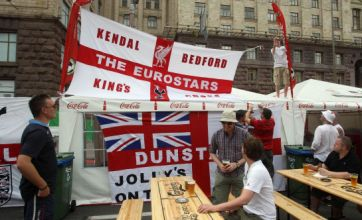England fans stage protest at Euro 2012 over rising beer prices