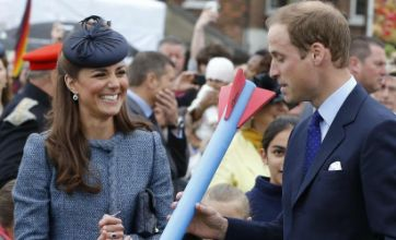 William and Kate show off impressive javelin skills: Caption competition