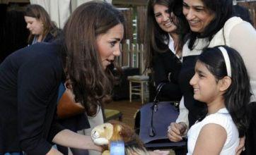 Kate Middleton enjoys theatre trip as Prince William watches Euro 2012