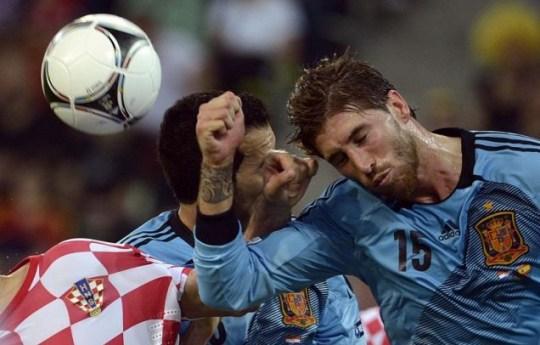 Sergio Ramos, spain, croatia, euro 2012