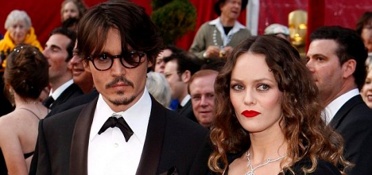 Johnny Depp and French singer and actress Vanessa Paradis