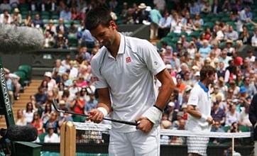 Novak Djokovic shares golf club joke with Centre Court crowd