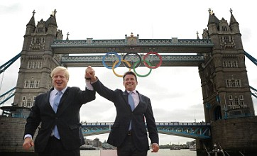 Olympic rings added to Tower Bridge to mark one month to London 2012