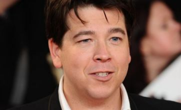 Michael McIntyre injured during Joe Hart impersonation routine