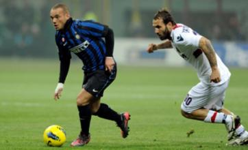 Man City on alert after Inter refuse to rule out Wesley Sneijder sale