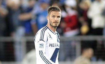 David Beckham's temper flares during LA Galaxy match after Olympics snub