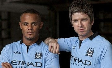 Man City captain and Oasis star Noel Gallagher reveal not so new kit