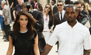 Kim Kardashian and Kanye West go monochrome again in Paris