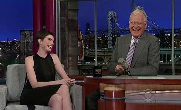 David Letterman spoils The Dark Knight Rises in Hathaway interview?