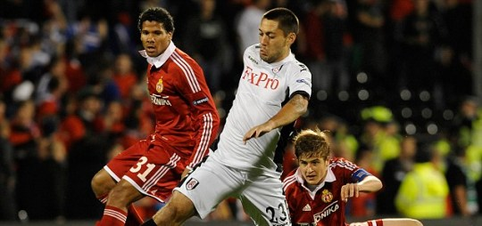 Clint Dempsey in action for Fulham