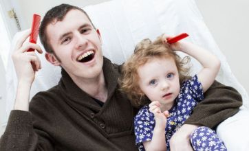 Paralysed father learns to walk and talk again by watching his little girl