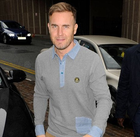 Gary Barlow arrives ahead of the first day of X Factor boot camp in Liverpool