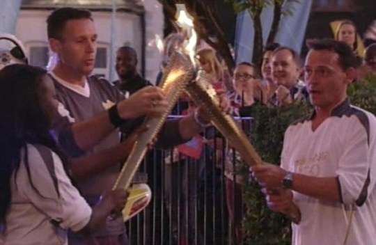 EastEnders live Olympic torch