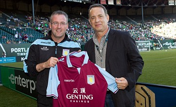 Tom Hanks watches Aston Villa chop down Portland Timbers