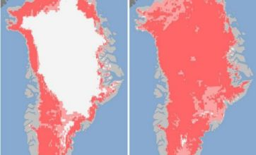 Ninety-seven per cent of Greenland ice sheet melts in four days