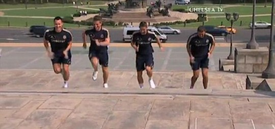 John Terry, Gary Cahill, Ross Turnbull and Sam Hutchinson, Chelsea