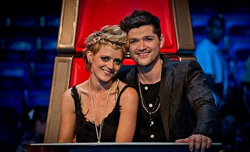 Danny O'Donoghue and Bo Bruce were close on The Voice - but Danny says there was no romance (Picture: BBC)