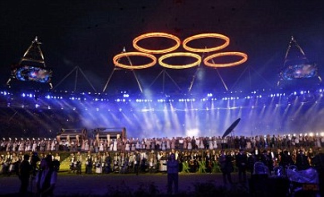 Coverage of the Olympics opening ceremony was honoured at the craft awards (Picture: Reuters)