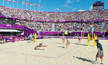 London 2012 beach volleyball venue in stunning 360 photography
