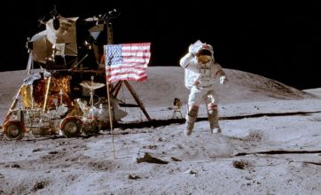 US flags still standing on the moon after 40 years
