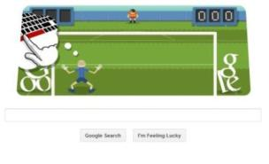 Today's sports-themed Google Doodle is a football game (Google)