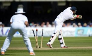 Jonny Bairstow was bowled for 95 by Morne Morkel (PA)