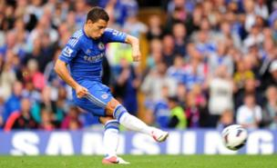 Eden Hazard scored Chelsea's first from the penalty spot (PA)