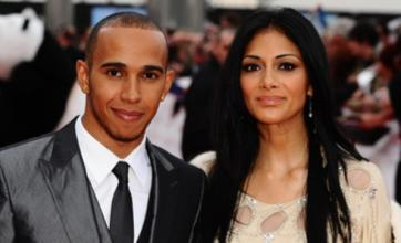 Nicole treats herself to a break from X Factor duties to see Lewis Hamilton