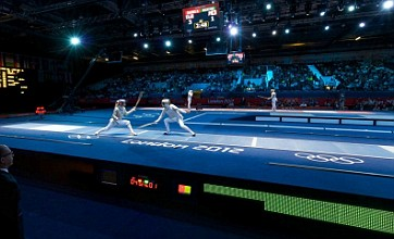 London 2012 Olympic fencing at the ExCel Centre in 360 degrees: Picture