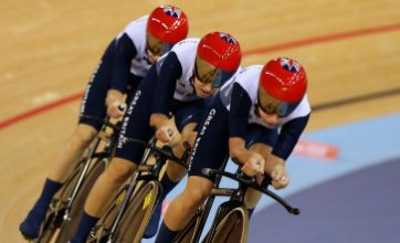 British women's cycling trio win team pursuit gold in world record time