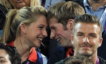 GB cycling's golden couple go public as an item at beach volleyball finals