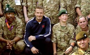 Olympics security is top-notch, David Beckham tells London 2012 soldiers