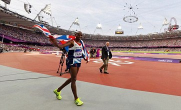 Mo Farah's lap of honour after double Olympic gold in 360 degrees