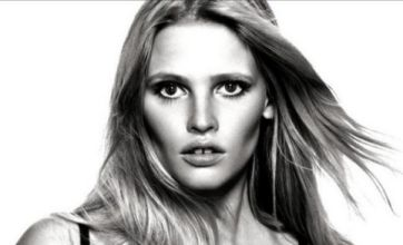 Lara Stone shows off her boobs in Calvin Klein's new bra campaign