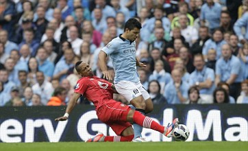 Sergio Aguero allays knee injury fears after Manchester City's opening win