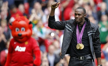 Usain Bolt unveiled to fans at Old Trafford but only as special guest