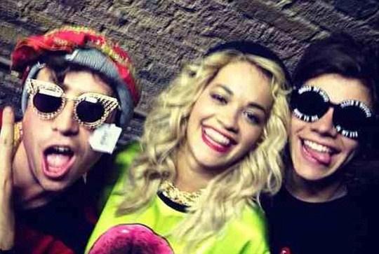 Rita Ora, Harry Styles, Nick Grimshaw