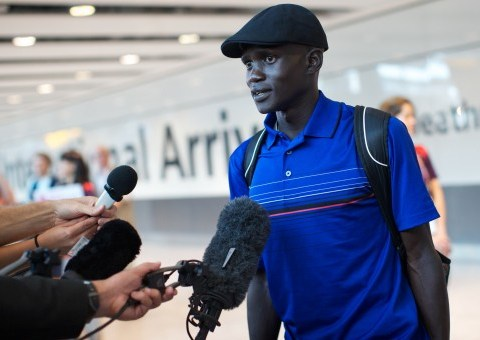 Guor Marial is a London 2012 marathon runner who literally ran for his life
