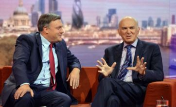 Ed Balls courts Vince Cable on Andrew Marr sofa