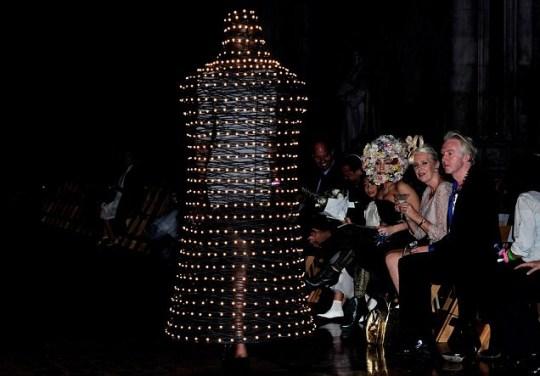 Lady Gaga, Philip Treacy show, London Fashion Week