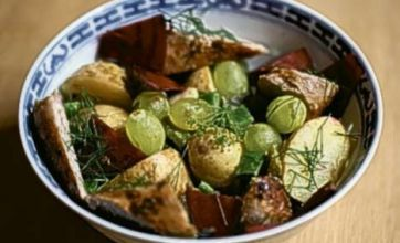 Sausages, dill and beetroot: Midweek Supper Recipe