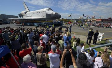 Space shuttle Endeavour makes final journey through Los Angeles