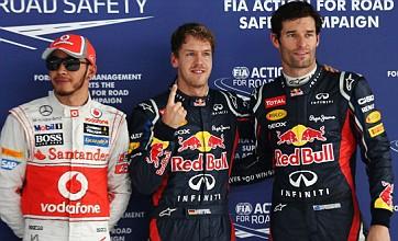Indian Grand Prix: Sebastian Vettel takes pole ahead of Mark Webber