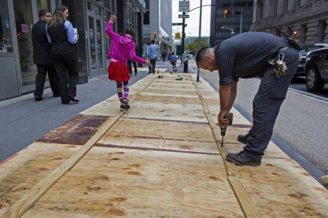 New York: Waiting for Hurricane Sandy