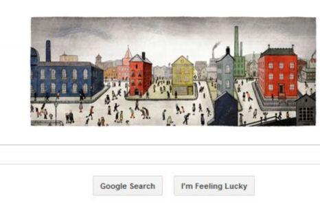 LS Lowry, Google Doodle