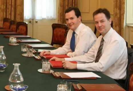 George Osborne, Nick Clegg